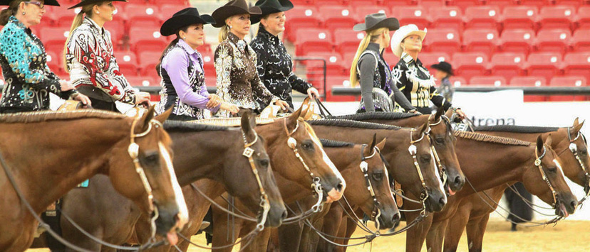 Level 1 Nutrena aqha group photo of riders
