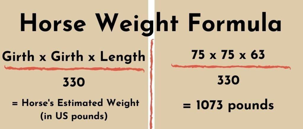 weigh horse formula